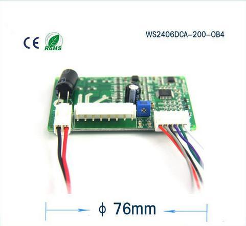best selling Micro brushless DC motor driver, the blower motor driver board can PWM speed control,model:WS2406DCA-200-OB4