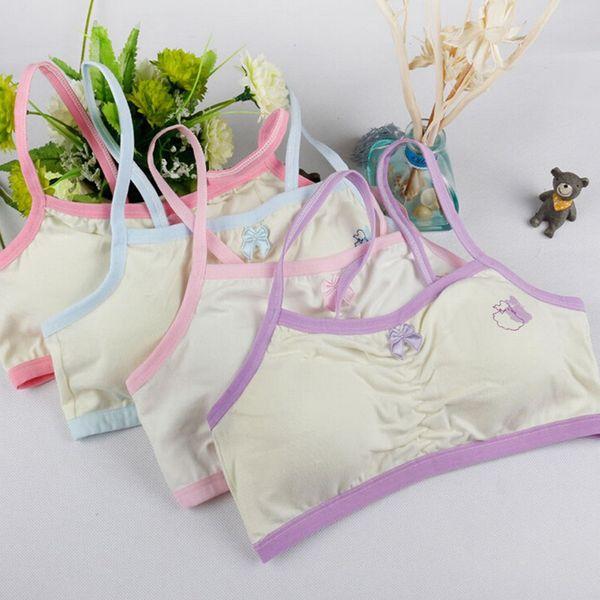 Puberty Girls Bra Soft Children Young Polka Dot Training Bra Student Underwear