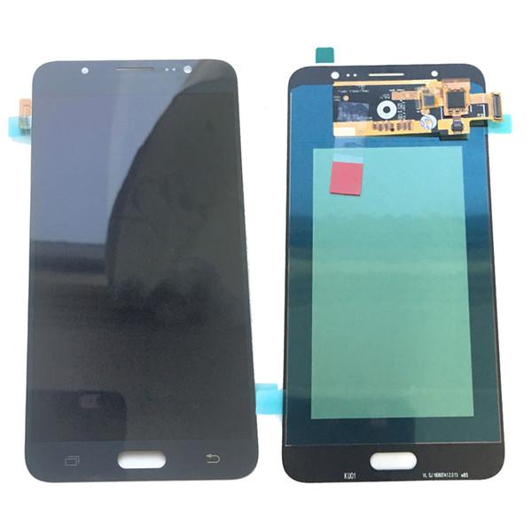 Super AMOLED LCD Display Touch Screen Digitizer For Samsung Galaxy J7 2016 J710 J710F J710Y White Black Gold Tempered Glass DHL logistics