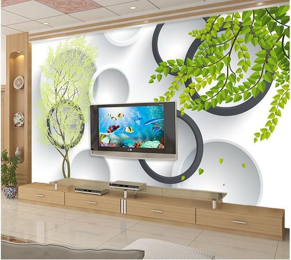 Papel de parede 3D TV backdrop decorative painting mural wall sticker new large wallpaper wall paper costomize size 8974252