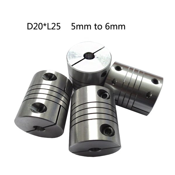 CNC Motor Jaw chain coupling 5mm to 6mm Flexible Coupler D20L25 for dc motor. free shipping