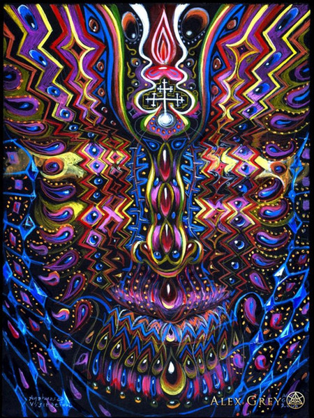 "best selling poster 32x24"" 17x13"" Trippy Alex Grey Wall Poster Print Home Decor Wall Stickers poster Decal--061"