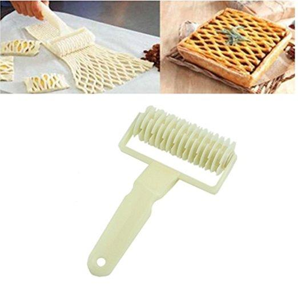 Kitchen Bakeware Baking Dough Cookie Pie Pizza Pastry Lattice Roller Cutter Craft Tool