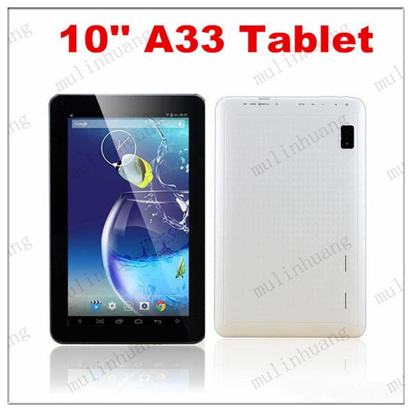 10 Inch Quad Core Tablet PC A33 X10 Android 4.4 1GB RAM 8GB ROM Wifi Dual Camera ARM Cortex A7 1.5GHz HD Capacity Screen Q10 10.1 10.2