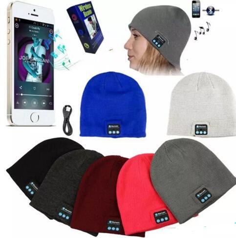 Bluetooth Beanie Soft Warm Music Cap Stereo Wireless Hat Headphone Headset Speaker Microphone Handfree With Package 20 pcs