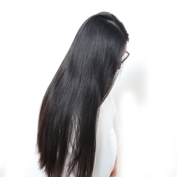 Malaysian Silky Straight Lace Front Wigs Glueless Human Virgin Silky Straight Lacefront Wig Long Silky Straight Full Lace Wig For Women