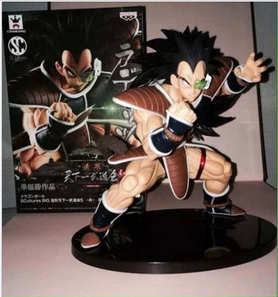 Anime Dragon Ball Z Scultures Big Figure Colosseum 5 Vol. 4 Raditz PVC Action Figure Model Toy size in 15CM free shipping