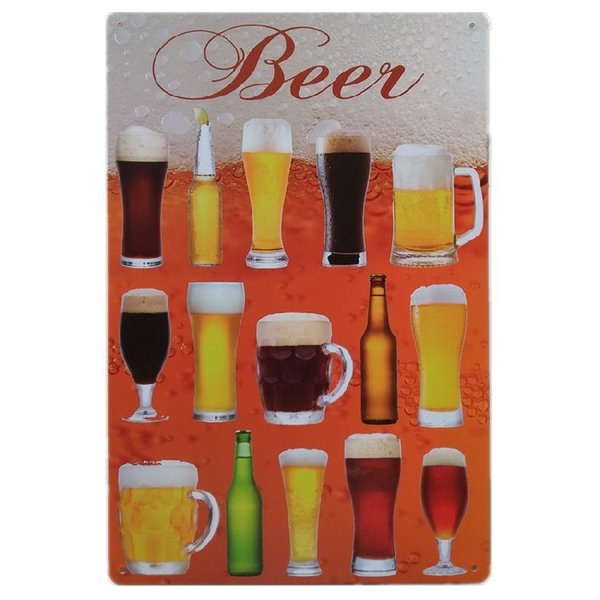Beer Vintage Tin Signs Poster Retro Plaques Bar House Gallery Kitchen Garage Room Wall Decor Painting