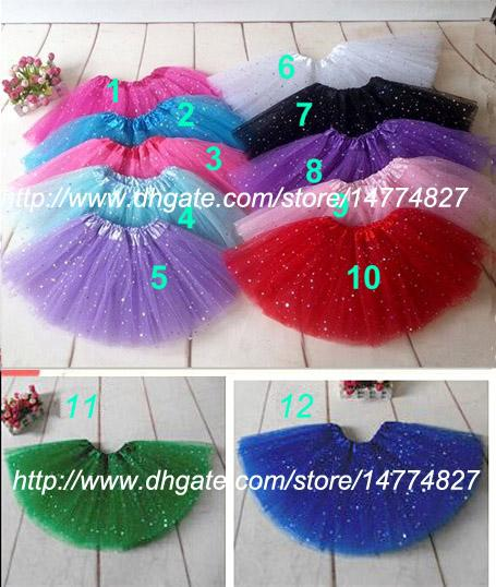 top popular Baby Girls Sparkle Tutu Pettiskirt Sequins Dance Tutu skirt Tulle Skirts Children Party Clothes New Hotsale 2021