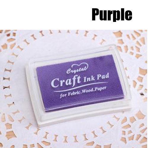 Al por mayor-Pretty Oil Based DIY Craft Ink Pad Sellos de goma para la boda de papel de madera de tela # 05674