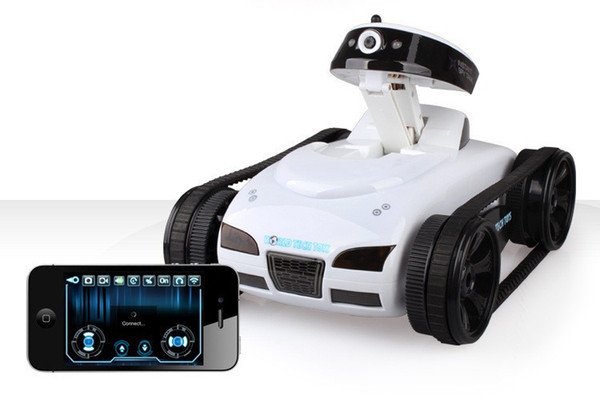 [TOP] High-tech 2.4G 4CH Wifi Mobile Iphone Ipad Control tank car Record video Camera Advanced smart RC electronic robot Toy