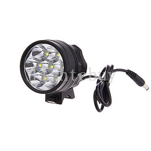 Imperméable 10000Lm 7T6 XML T6 LED Vélo Vélo Avant Flash Light phares Avec 8.4V Batterie Rechargeable Pack chargeur AC
