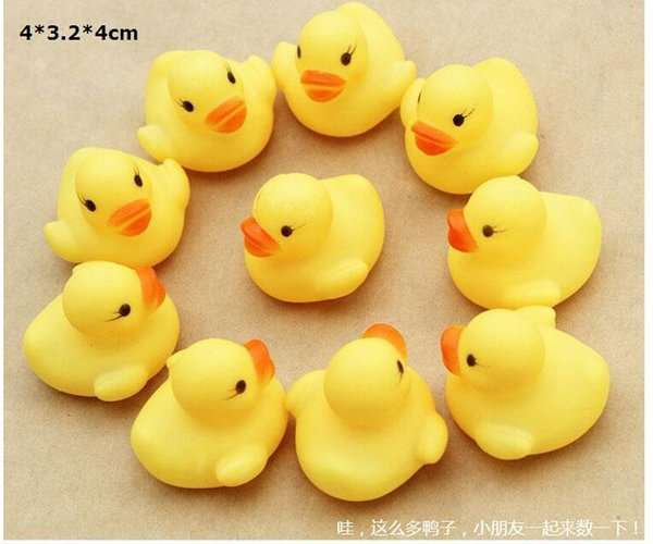 Baby Bath Water Toy toys for sale Sounds Yellow Rubber Ducks Kids Bath Children Swiming Beach toys Gifts wholesale - 0011CHR