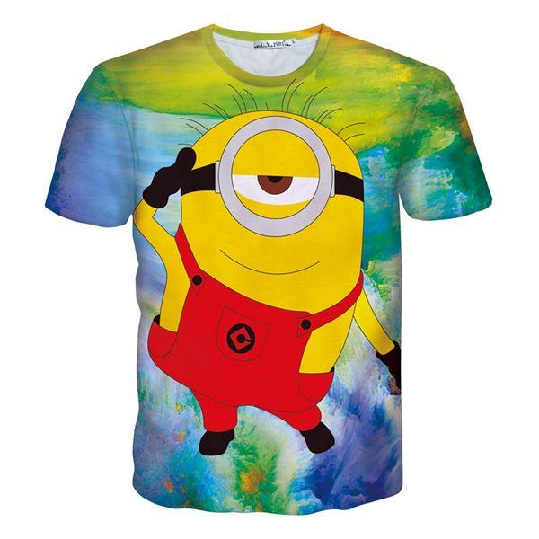 ade93ec45 Alisister new fashion women/men cartoon minions t shirt print despicable me  3d t shirt