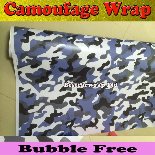 Blue Snow style CAR CAMO KIT VINYL Wrap Camouflage Sticker GRAPHICS STICKERS DECALS BONNET ROOF GOLF size 1.52x30m/Roll Free Shipping