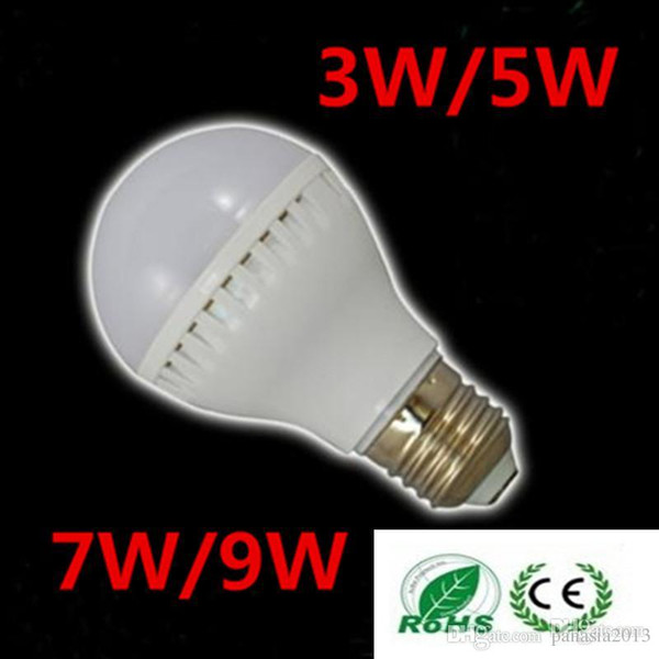 Wholesale Free shipping 10pcs/lot 3W 5W 7W Sound Light controlled LED lamp 220V B22/E27 Warm/Cool white with Audio control bulb
