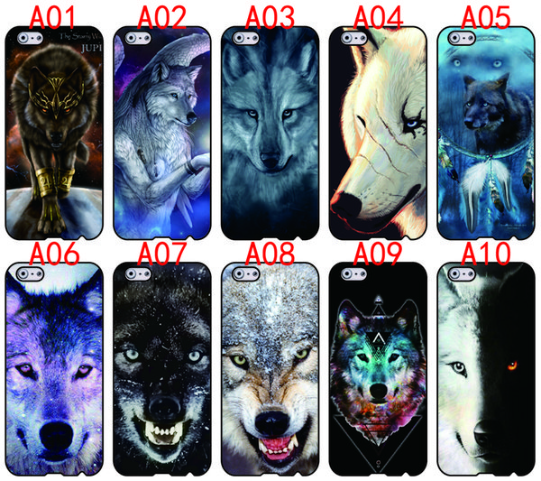 Cool Wolf For iPhone 6 6S 7 Plus SE 5 5S 5C 4S iPod Touch 5 For Samsung Galaxy S6 Edge S5 S4 S3 mini Note 5 4 3 phone cases