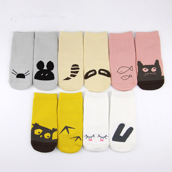 Unisex Cartoon Animal Socks Warmers 2017 Fashion Baby Girls Boys