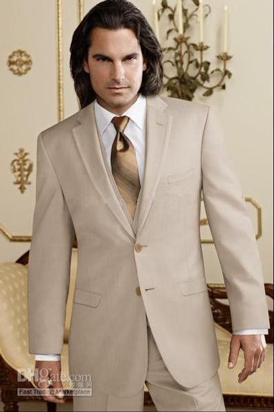 Custom Made Groom Tuxedos Groomsmen Notch Collar Men Wedding Suits(Jacket+Pants+Tie+Waistcoat)H88