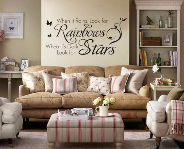 Home Decoration Quotes Wall Decals Bedroom Living Room Wall Art Removable  Vinyl Diy Wall Stickers Decorative Sticker Home Wall Decals Quotes Home  Wall ...