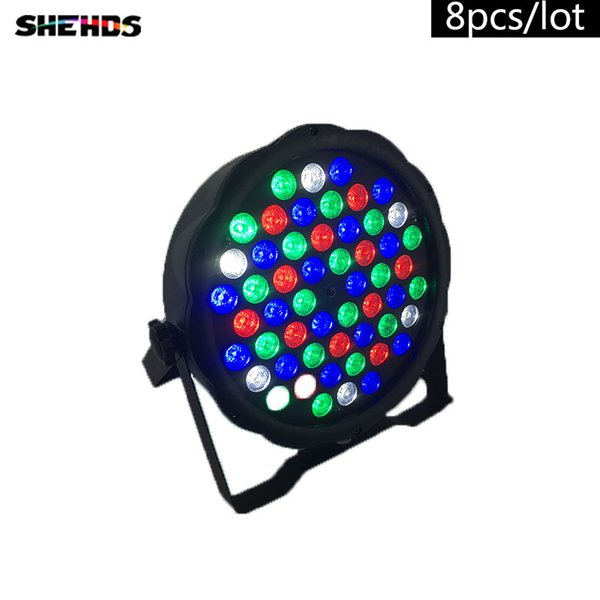 8pcs/lot Fast Shipping LED Flat Par 54x3W Lighting Color Mixing DJ Wash Light Stage Uplighting KTV Disco DJ DMX512