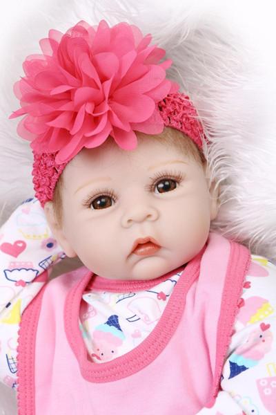 Wholesale- Bebe reborn NPK soft silicone reborn babies dolls 22inch children sleeping dolls play house toys gift bonecas brinquedo menino