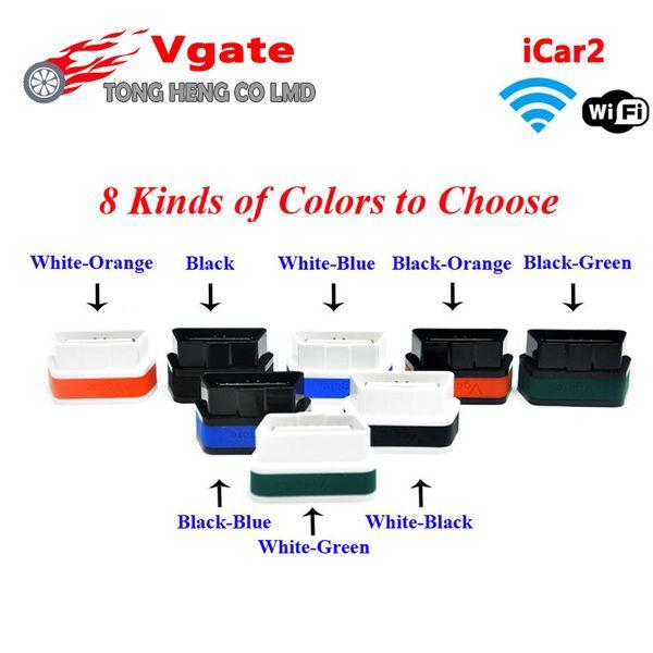 Großhandels- Vgate ELM 327 WIFI iCar 2 OBD2 ELM327 iCar2 Wifi Vgate OBD Diagnoseschnittstelle Unterstützung für iPhone / Android / PC geben Verschiffen frei