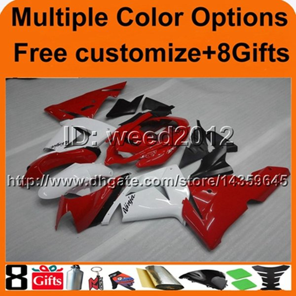 23colors+8Gifts panels white red motor hull ABS cowling 04 05 ZX10R 2004 2005 motorcycle fairing for Kawasaki Ninja