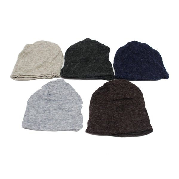 DHL free shipping Cotton Beanies Korean simple winter warm hats for women Two uses scarf hat Fashion Outdoor Caps