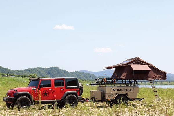 Remorque de campeur dure de sports en plein air pour camper hors de la remorque de route