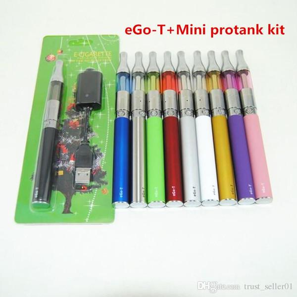 eGo T Mini Protank Blister pack Kit 650mah 900mah 1100mah Ego-t Batteries Mini protank 1 vaporizer clearomizer tank vape pens starter Kits