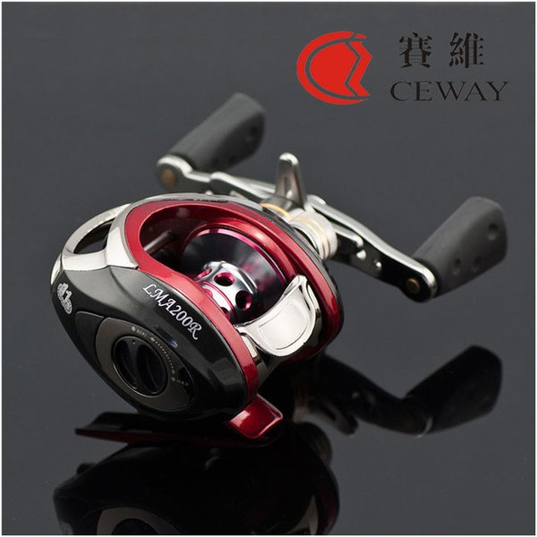 Bait Casting Reel 10 + 1BB Saltwater High Speed ​​Low Profile Mulinelli da traino Barca Traina Baitcasting Mulinello da pesca Acqua dolce Sinistra Destra 2017