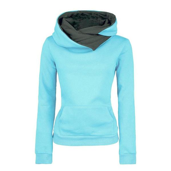 European and American Style Women Hoodies Sweatshirts Long-sleeve Hooded  Jacket Pullover Hoodies Women Slim fc30c36101