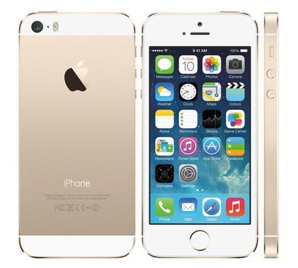 Original Apple iPhone 5S Refurbished Phone 64GB 32GB 16GB Unlocked Phone iOS 9 HD A7 8MP