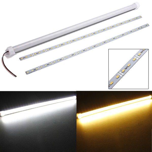 50pcs 5630 LED Stab U-Rillen-Licht-wasserdichte 36LEDs 50CM LED starre Streifen DC 12V 5630 LED-Schlauch-harte LED-Streifen-PC-Abdeckung