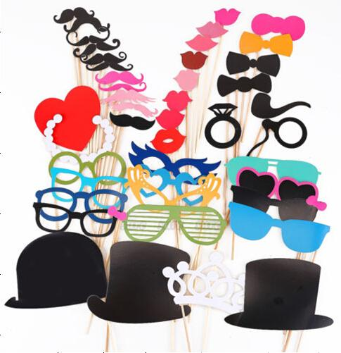 Photo Booth 44Pcs/Set Festive & Party Supplies Photo Props/Party Favors new wedding /party photography props/wedding decoration