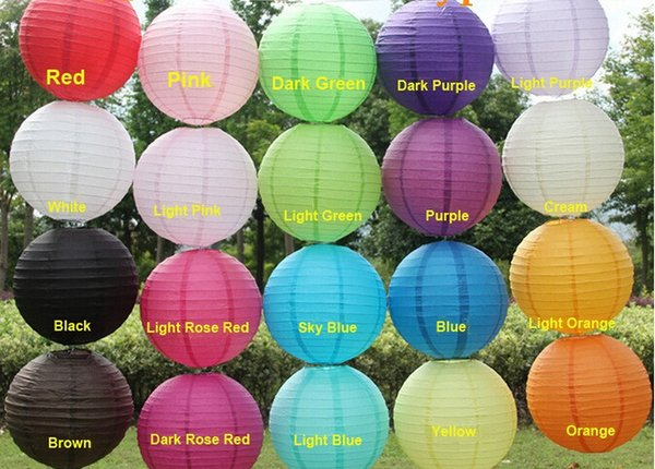 Free Shipping 10pcs/lot 12''(30cm) Mutil Colors Chinese Paper Lantern Event Party Bars Festival Decoration 20 colors wedding lantern