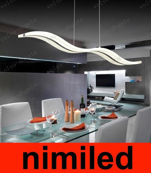 Acheter Nimi780 2016 Lustres Modernes À LED 38W Blanc / Blanc Chaud Lampes  Acryliques D\'éclairage Pour Salle À Manger Chambre Salle De Séjour ...