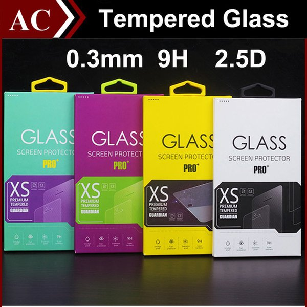 0.3mm 9H 2.5D Clear Tempered Glass Screen Protector Explosion Proof Film Guard For iPhone 7 8 x 5 5S 6 6 Plus Galaxy S4 S5 S6 Note 3 4 5