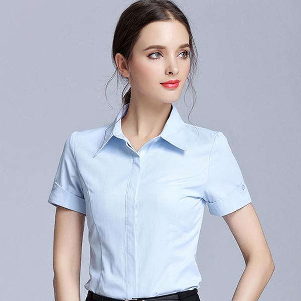 Blanca Cardigan Camisa Manga Corta Para Mujer Compre De Slim qA8wpxpI