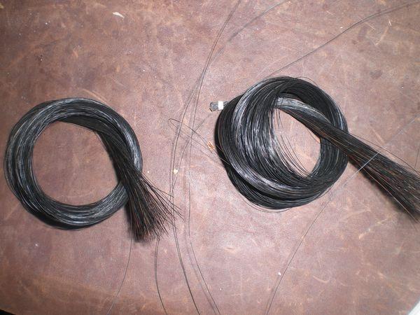 12 Hanks Quality Black Violin Bow Hair 81 cm length 6 grams/hank Mongolia Horse tail hair