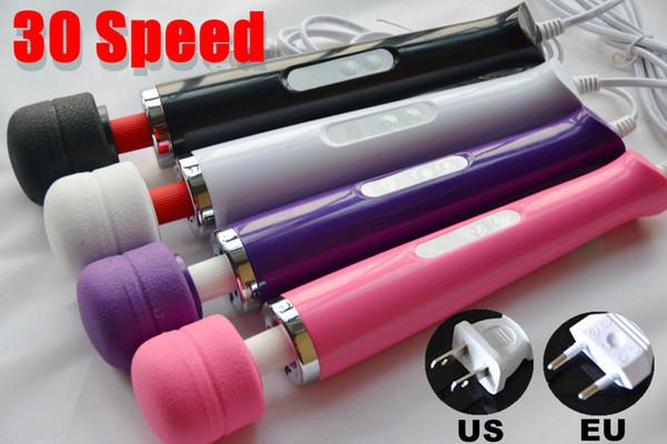 30 Vibrate Function Magic Wand Vibrator Full Body Head Massager Hitachi Motor