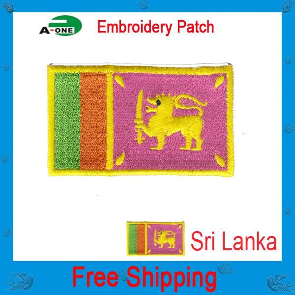 Sri Lanka bandera parche para coser en la ropa para hombre Jeans Sri Lanka bordado Badge