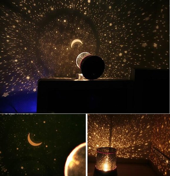 New style Colorful cosmos stars laser-LED projector Star Projector Lamp LED Night light lantern 7 colors