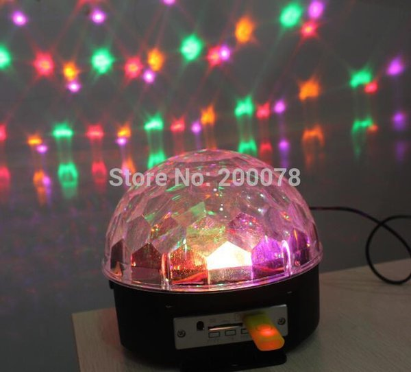 Wireless DMX Control Digital LED RGB Crystal disco stage ball DJ light projecter iluminacion lighting magic effect MP3 speaker+Free shipping