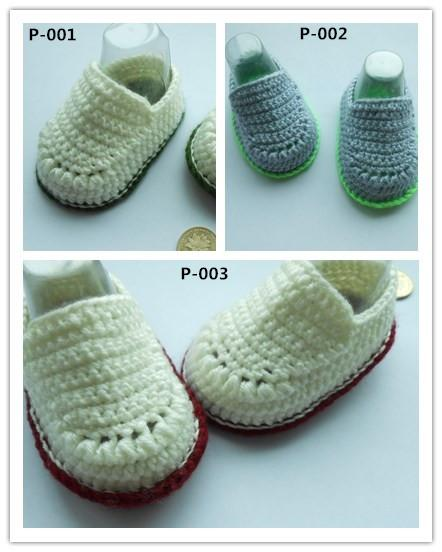 Fashion crochet shoes boy soft bottoms knitting baby shoes 0-12 month unisex Newborn Socks Handmade Boots Toddler Bootie 12pairs/24pcs