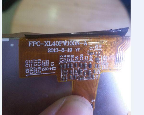 All'ingrosso-display LCD interno FPC-XL40FW100N-A pannello dello schermo mostra vetro per la Cina clone copia telefono android i5S 5c 5g
