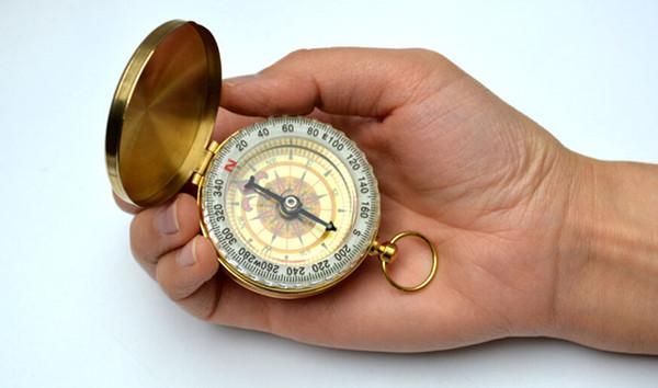 Refined compass. G50 pocket watch compass. Backlit pocket compass, anti-brass compass cover special gifts