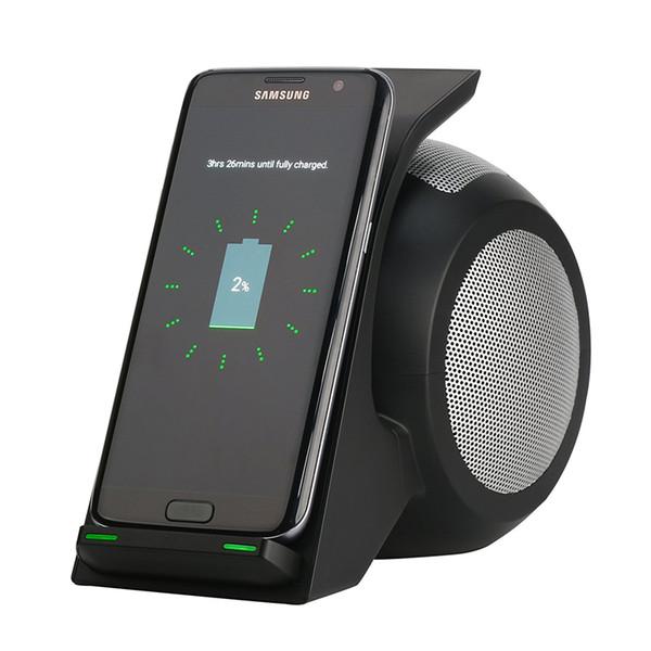 Carregador sem fio rápido com nfc bluetooth speaker para samsung galaxy note 8 s8 s8 mais s7 iphone x iphone 8 8 além de dispositivo de carregamento sem fio