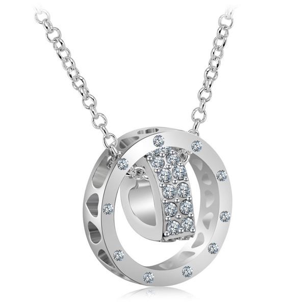 I monili caldi di modo di alta qualità collana pendente di cristallo monili delle donne collane del pendente del cuore regalo di Natale spedizione gratuita